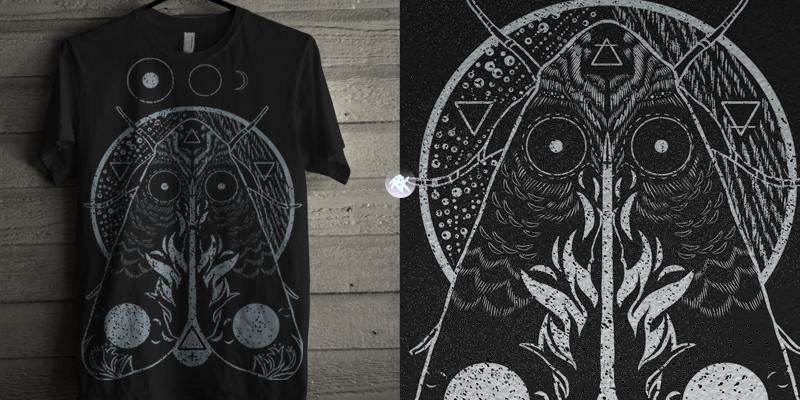 Alchemy moth t shirt design by rainbowsorknives mintees for Alchemy design t shirts
