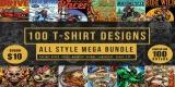 100 T-Shirt Designs Mega Bundle