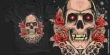 Skull n Roses - Artwork for sale