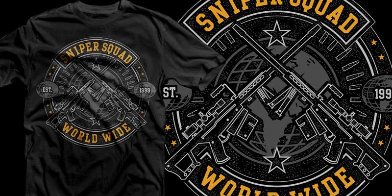Sniper logo design images galleries for Custom t shirts mississauga