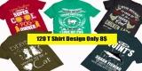 120 T Shirt Design Bundle ANIMAL