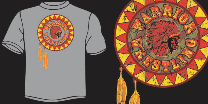 Warrior wrestling t shirt design by ben danger mintees for High school wrestling shirt designs