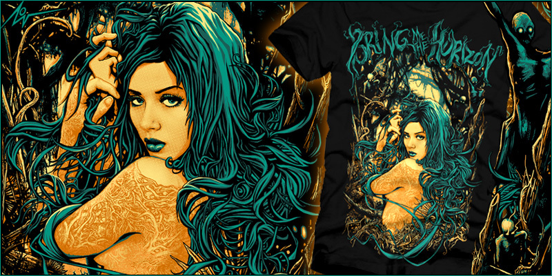 within the blood of nature tshirt design by