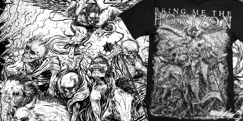 bring me the horizon four horsemen tshirt design by