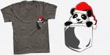 Pocket Panda With Santa Hat