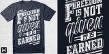 freedom is not given it is earned