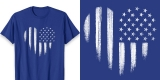White USA Flag Heart Shirt Distressed American Patriotic 4th of July Tee