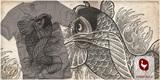 Koi Fish Tattoo Design on tee!!