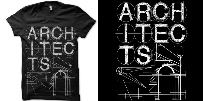 architects 39 architecture t shirt design by alexarrows mintees. Black Bedroom Furniture Sets. Home Design Ideas