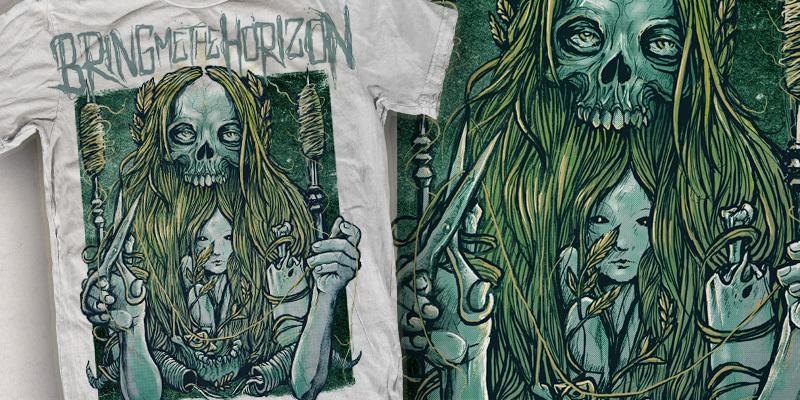 bring me the horizongoldenfaith tshirt design by