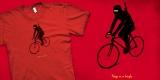 Ninja on a bicycle.