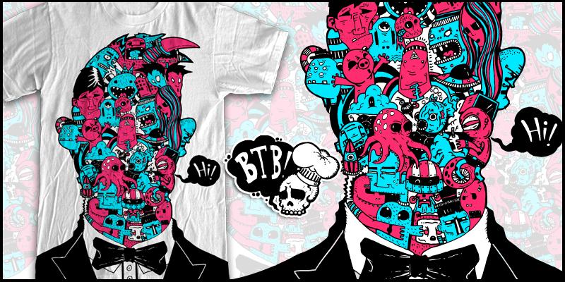 Doodle Designs For Shirts Doodle Face T-shirt Design