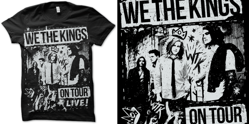 We the kings diy t shirt design by jamers mintees for We the kings t shirts
