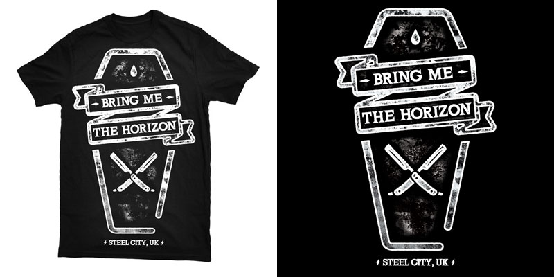 bring me the horizon coffin tshirt design by