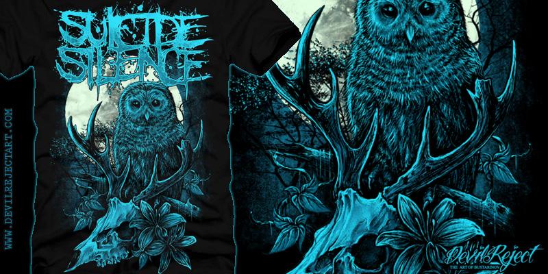 suicide silence t shirt design by devilreject mintees. Black Bedroom Furniture Sets. Home Design Ideas