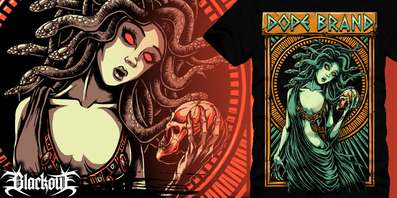 Dope t Shirt Brands Medusa Dope Brand T-shirt