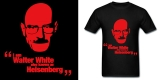 Breaking Bad Walt White Black Adult Standard Weight T-shirt