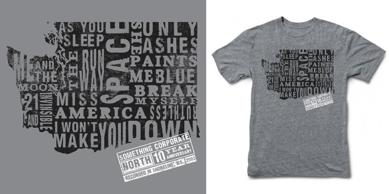 Something Corporate Songs State Anniversary Tee - T-shirt ...