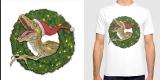 Velociraptor and Christmas Wreathe