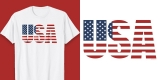 Patriotic American Flag Shirt 4th of July Tee