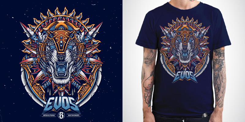The Warrior - T-shirt design by BodilPunk - Mintees