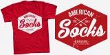American Socks brand tee