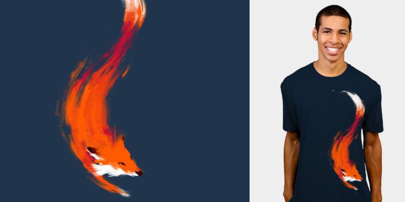 528413716 Quick Orange-Red Fox - T-shirt design by DBH - Mintees