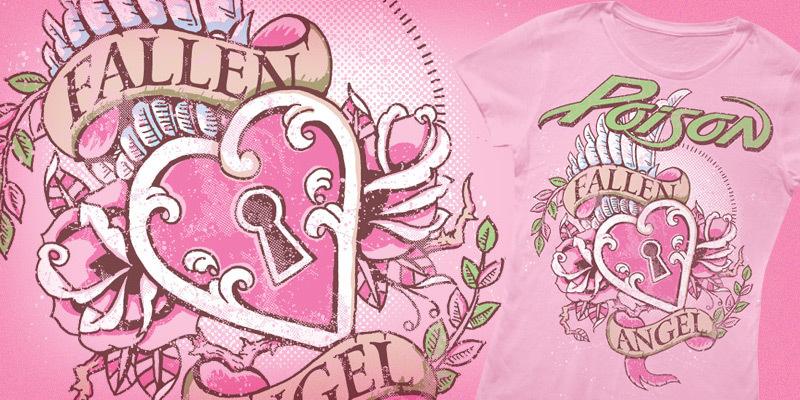 POISON - Fallen Angel - T-shirt design by CASTLE - Mintees