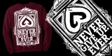 NEVER GIVE UP by Upheart Clothing