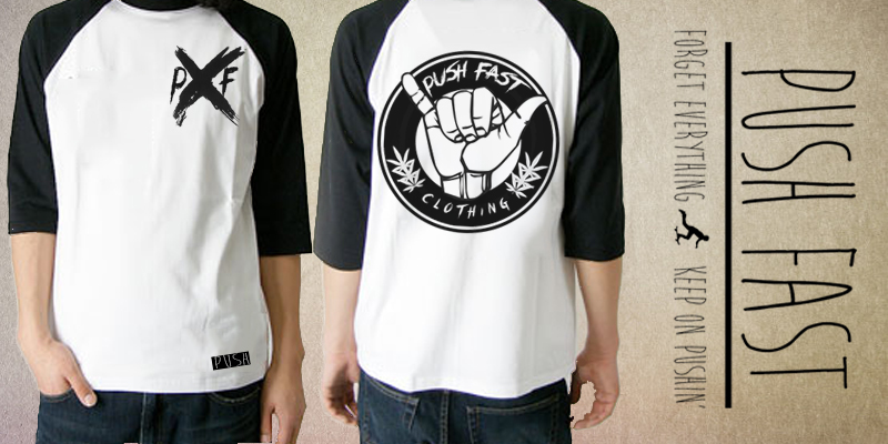 Push Fast Baseball Tee   T Shirt Design By Pushfast   Mintees
