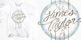 James Taylor - guitar strings shirt