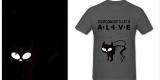 Schrodinger's Cat Asphalt Adult Standard Weight T-shirt For Men