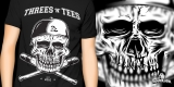 Three & Tees SKULL