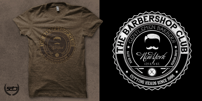 Barber Apparel : The Barber Shop - T-shirt design by xod03 - Mintees