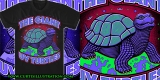 Giant UV Turtles T-shirt illustration