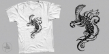Masterpiece of Nature. Monitor Lizard in tattoo style T-Shirt