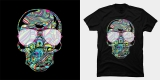 Skull Color Waves