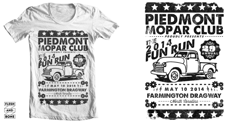 piedmont car show t shirt design by brianmorgante mintees