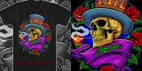 "Poison ""Smoking Skull"" T-shirt"