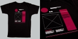 NATRI - wireframe - black t-shirt