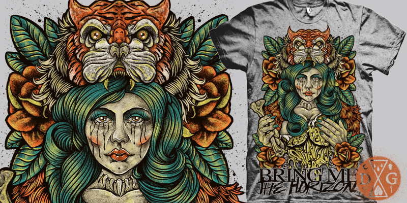 bring me the horizon jungle woman tshirt design by