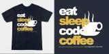 programmer : eat sleep code coffee - teepublic.com