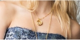 rose gold necklaces women