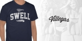 """Villegas Dark Blue """"Swell"""" Tee"""