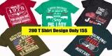T Shirt 200 Design Bundle MIXED