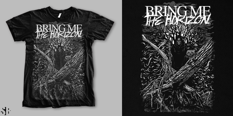 bmth tshirt design by sebrodbrick mintees