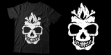 Bonfire skull